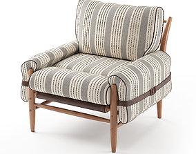 Striped Rhys Chair 3D