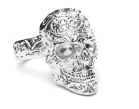 3D print model antique Skull Ring