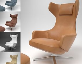 Vitra Grand Repos Leather Chair Blender Cycles 3D
