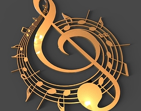 Music Logo 3D model
