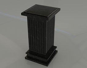 Marble Column uncollapsed with all modifiers for 3D