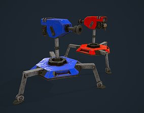 3D model animated Turret