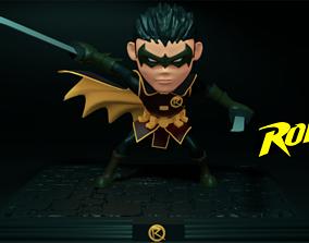 Robin Chibi - split for 3d print Damian Wayne