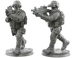 Usa soldier 28 - 40 mm 2 3D printable model
