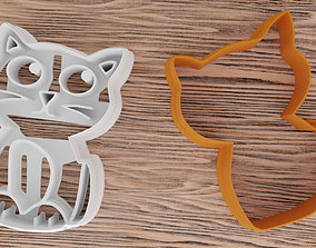 Two-in-one cat-shaped mold for 3D printer diy
