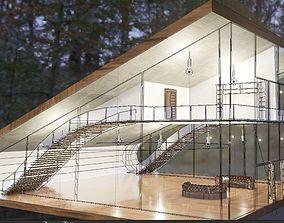 3D model modern house architectual visualization