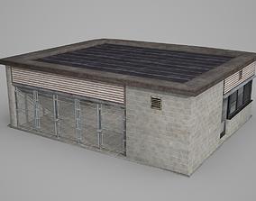 Entrance of Modern Architectural Scenic Spot 3D asset