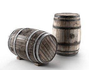 vintage Wooden Barrel 3D model