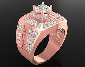 3D print model LUXURY DIAMOND RING FOR MEN 599