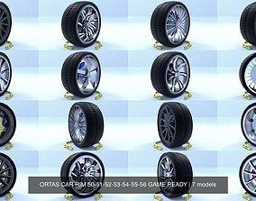 3D model ORTAS CAR RIM 50-51-52-53-54-55-56 GAME READY