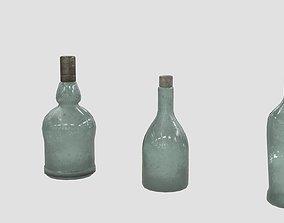 Old Bottles 3D asset
