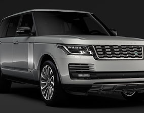 3D model Range Rover Vogue SE LWB L405 2018