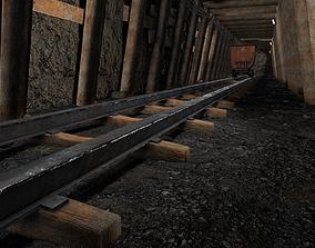 Underground Coal Mine Tunnel 3D asset