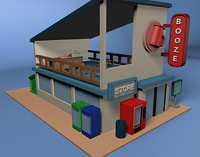 Little Combini With A cozy Bar On Top 3D printable model