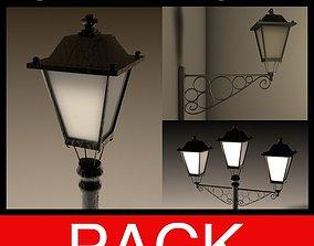 3D asset Streetlight PACK