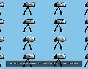 3D 21 Naruto Bandana Full Collection - Character Design