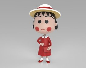 Chibi Maruko Chan Red Dress 3D printable model