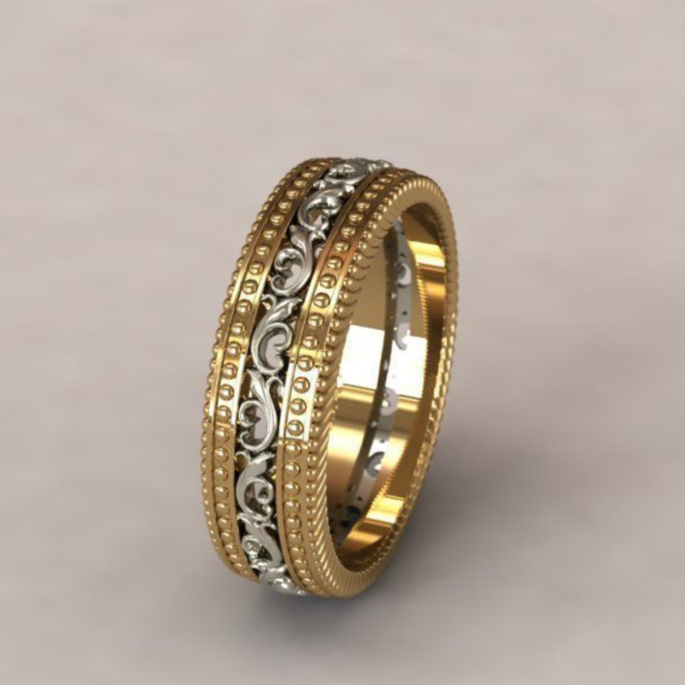 3d model of wedding rings