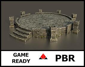 3D model realtime Ancient altar