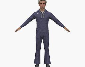 Sailor 3D model rigged