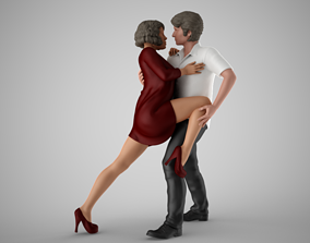 Young Couple Dancing 3D printable model