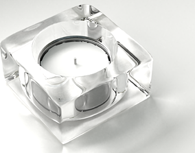 3D model Glass Candle Holder