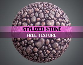 3D model Stylized Stone Texture