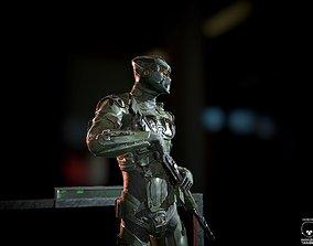 3D asset SciFi Soldier