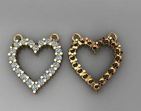 3D printable model Dainty Diamond Heart Pendant
