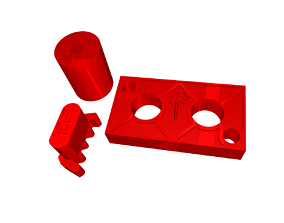 Harley Twin Cam gear locking tool Replace 3D print model 2