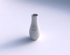 Vase curved with rocky fibers 3D printable model