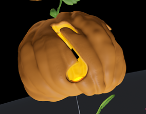 Symbols Theme Carved JackOlantern Pumpkin 3D print model 1