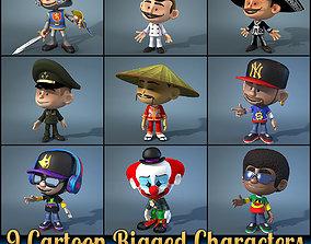 3D model 9 Cartoon Characters
