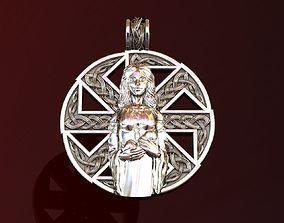 Woman Kolovrat Pendant Amulet Mother 3D printable model 1