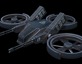 Military drone 3D asset