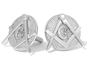 3D printable model mason cufflinks