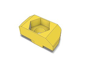 T-Nut Slot 8 Adapter to Hexagon Nut M4 3D print