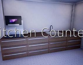 Kitchen Counter SHC Quick Office LM 3D asset