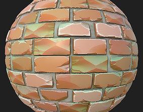 3D asset Stylized Bricks Wall