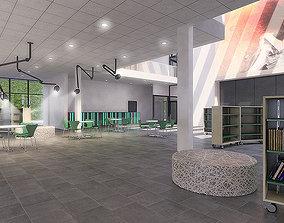 Public Hall Interior 01 3D model