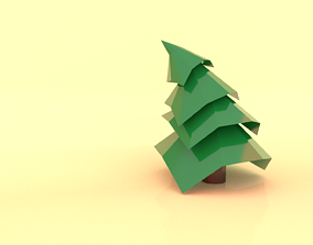 nature christmas tree 3D model game-ready