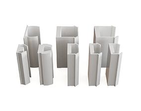 3D model Profile aluminium cover profiles