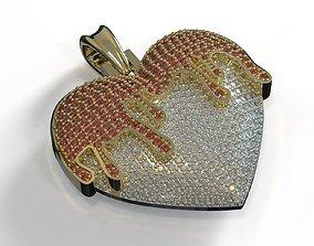 Heart blood Pendant jewelry 3D printable model