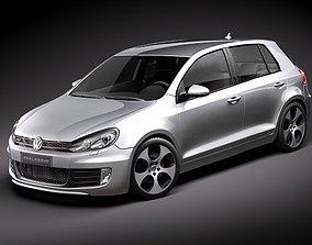 3D model Volkswagen Golf 6 GTI