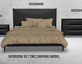 Bedroom Set Carving Model