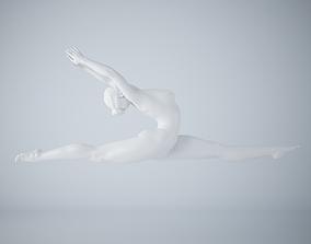 Ballet dancer pose 009 3D print model