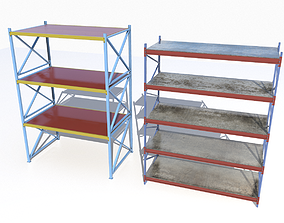 3D asset Industrial shelves 6