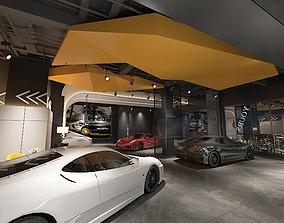 3D model Car showroom 02