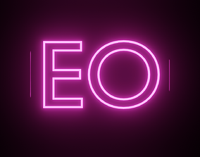 3D model Neon Text Animation - made in Blender