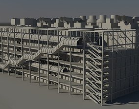 Center George Pompidou Paris 3D asset